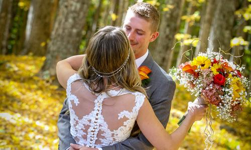 Fall Boho Wedding in the forest