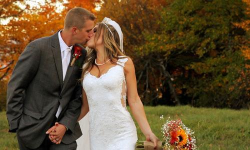 Fall Wedding Image Upstate NY
