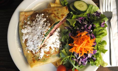 Whistling Kettle crepe and salad