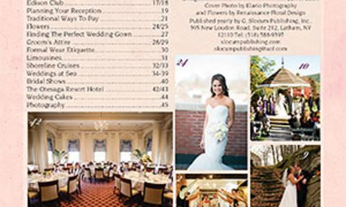 Slocum Publishing Brides magazine table of contents