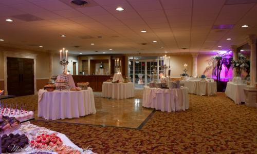 Mallozzi's Catering empty banquet room ready for event