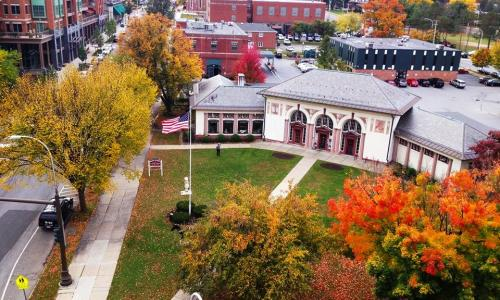 SS Heritage Area Visitor Center view from above