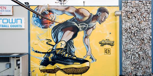 Steph Curry Mural