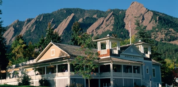 Chautauqua Dining Hall with Flatirons