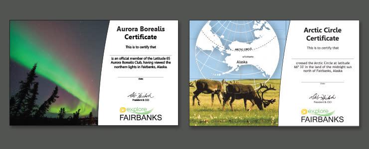 Aurora and Arctic Circle Certificates - Fairbanks, Alaska