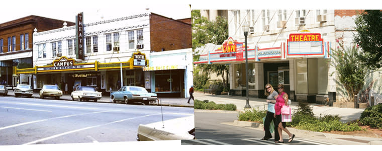 Then and Now Campus Theater