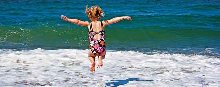 Girl Jump Beach