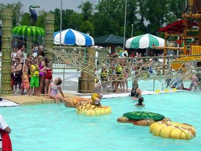 Splash Island outdoor crowd shot