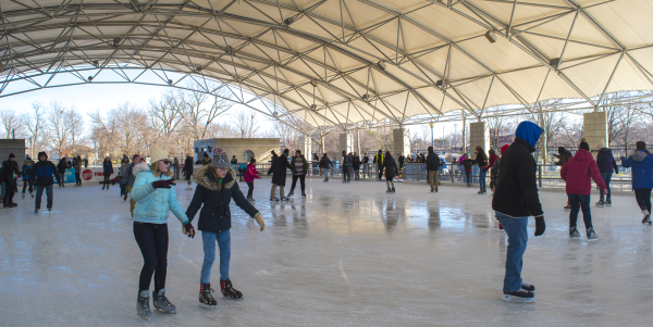 Ice Skating at Headwaters Park