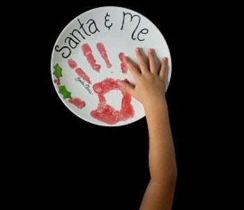 Santa's handprint!