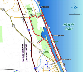 Ormond Scenic Loop and Trail is a paved double loop road that bicyclists ride upon, too.