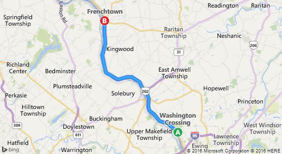 Map of 'The Loop' New Jersey