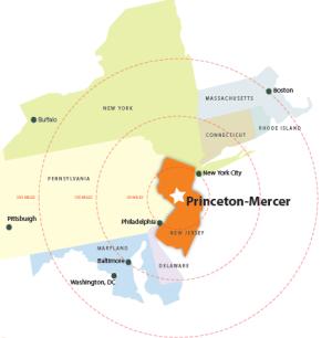 Princeton regional map