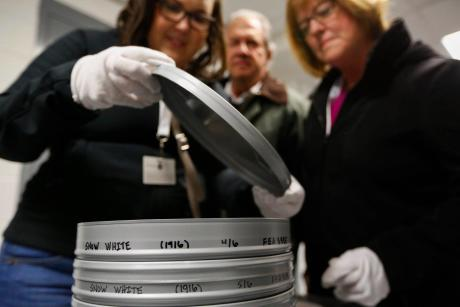 preserving film at the George Eastman Museum in Rochester, NY