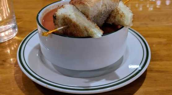 Ribbon Cafe cup of tomato soup