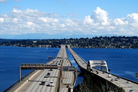 Best City Views in Seattle I-90 Floating Bridge Viewpoint