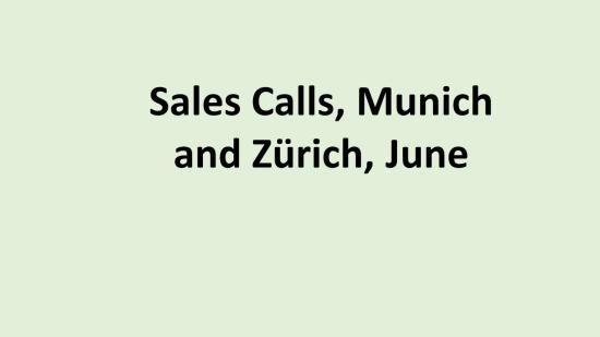 DE Sales call
