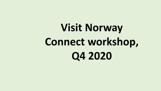 NL Visit Norway Connect