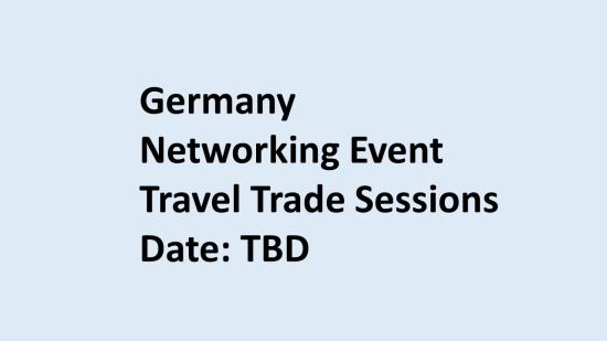 Travel Trade sessions Germany 2020