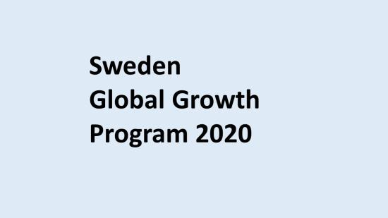 Global growth Sweden 2020