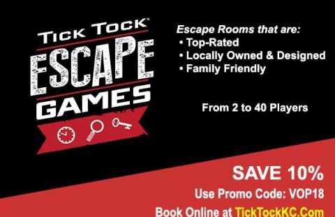 Tick Tock Escape Games Overland Park Coupon