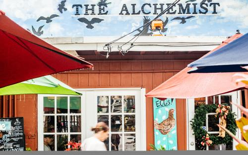 The Alchemist offers a garden setting and possibly the best iced coffee in Wilton Manors, Greater Fort Lauderdale