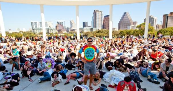 Crowd at the Keep Austin Weird Fest and 5K 2015
