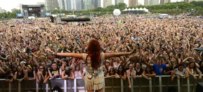 View from the stage while performing at Lollapalooza