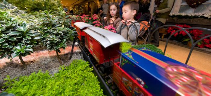 Kids Viewing Model Trains at CBG Wonderland Express