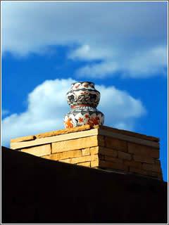 Pots at the Haaku Museum at Acoma Pueblo west of Albuquerque, New Mexico