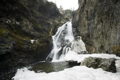 Frosty Waterfall Hike