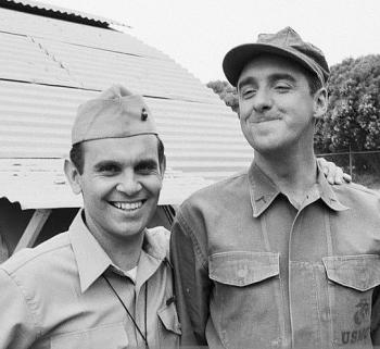 """Ronnie Schell and Jim Nabors from """"Gomer Pyle, U.S.M.C."""" (photo courtesy of Ronnie Schell Facebook page)"""