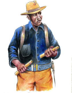 Buffalo Soldier Illustration_2