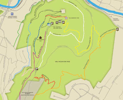 Mill Mountain Park Trail Map