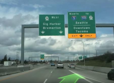 Exit to Tacoma, Washington