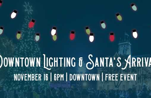 Downtown Lighting & Santa's Arrival