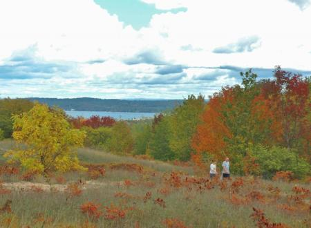 On the Old Orchard Trail at the Grand Traverse Commons
