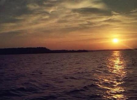 Sunset on Power Island