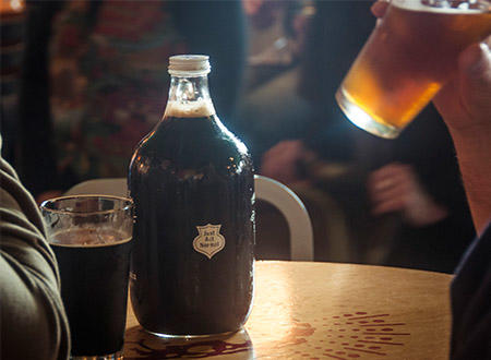 Growler at Right Brain Brewery