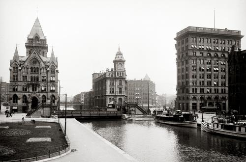 Historical Image of Erie Canal at Salina St.