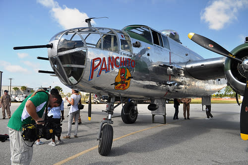 Panchito, B-25 Mitchell Bomber Flown in WWII in Doolittle Raid, Will Be on Dispaly during the Florida International Air Show, March 24 - 25, 2012