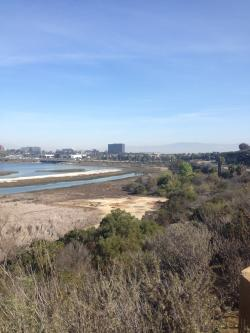 View of Irvine, CA from the coast