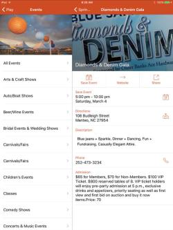 Ipad-Travel App Events