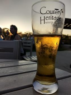 A hard apple cider at Country Heritage Winery