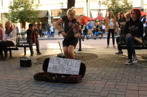 Violin Street Performer in Downtown Grand Rapids