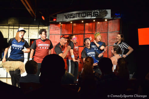 Performers at ComedySportz Chicago