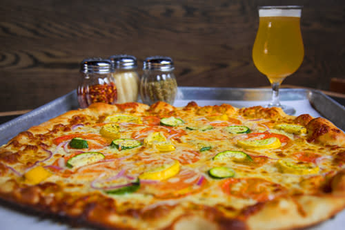 Pizza and beer from Piece Brewery & Pizzeria