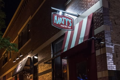 Chicago's Marty's Marini Bar sign