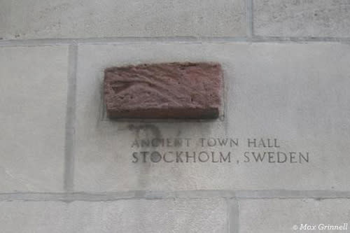 Brick from Ancient Town Hall, Stockholm Sweden