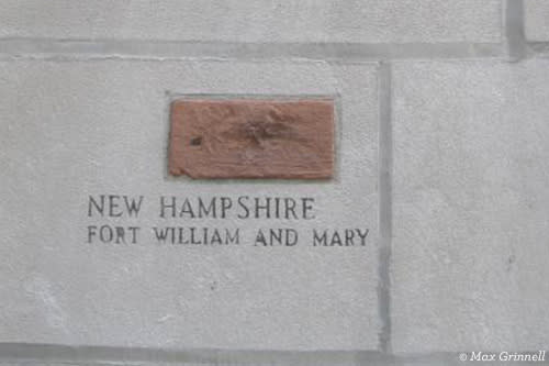 Brick from New Hampshire Fort William and Mary
